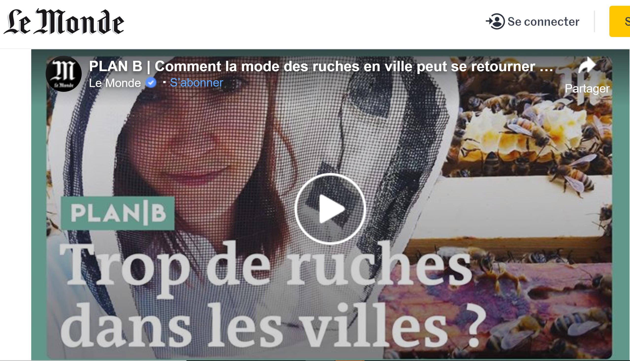 Vidéo Le Monde abeilles